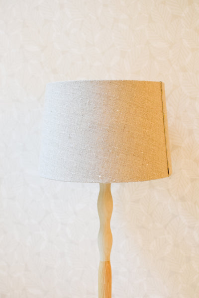 Linen and Jacqmar Silk Stitched Tapered Lampshade