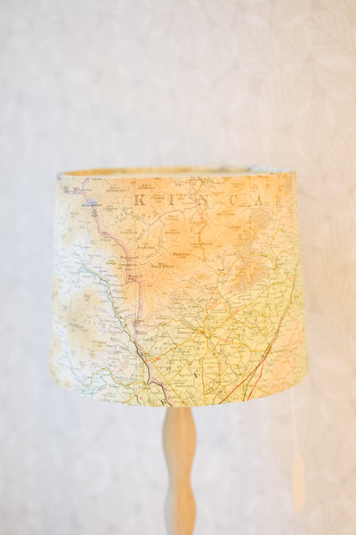 Vintage Map Tapered Shade