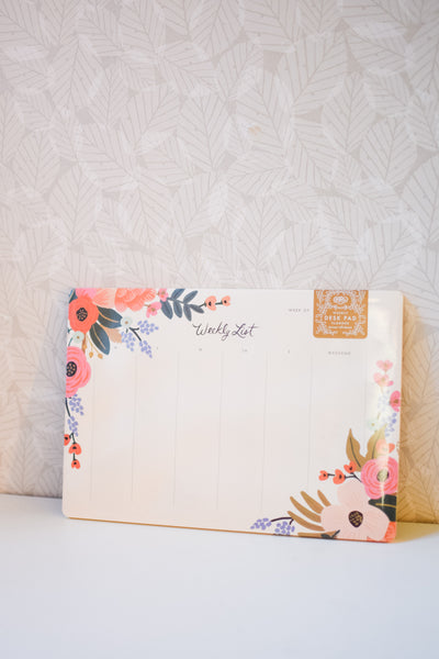 Weekly Desk Pad 'Lively Floral'