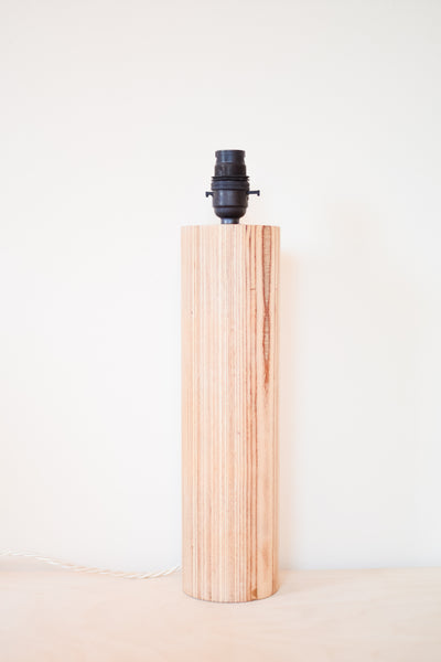 Tall Plywood 'Column' Lamp Base