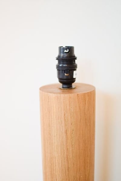 Tall Oak 'Column' Lamp Base