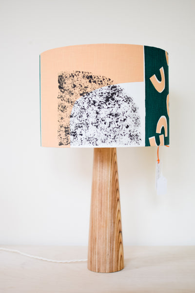 Luna - Screenprinted Fabric Lampshade