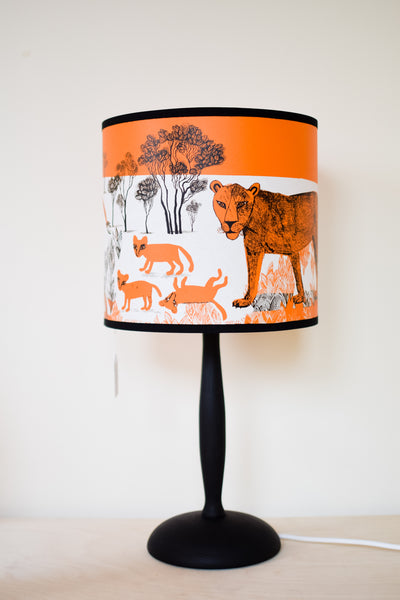 Orange Lion Lampshade