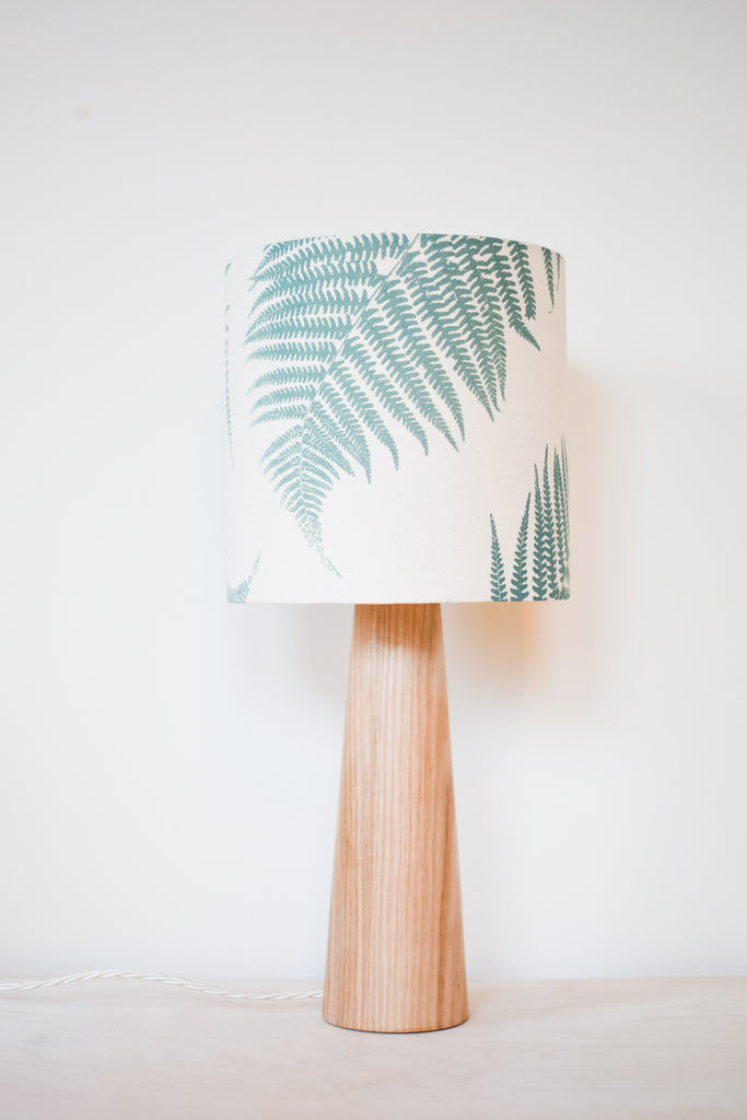 Fern - Handprinted Fabric Lampshade