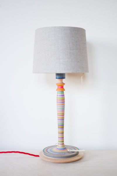 Colourful Fine Stripe Lamp Base no. 417