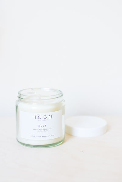 Rest - Pure Essential Oil Scented Candle Jar