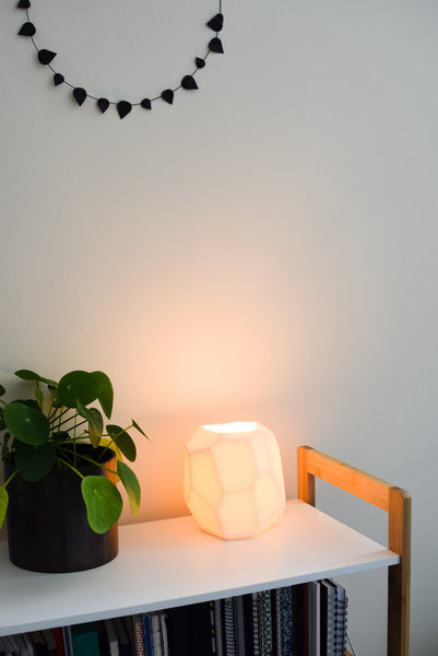 Faceted Ceramic Lamp