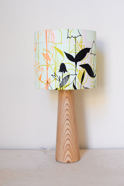 Mint Blush Floral Linen Lampshade