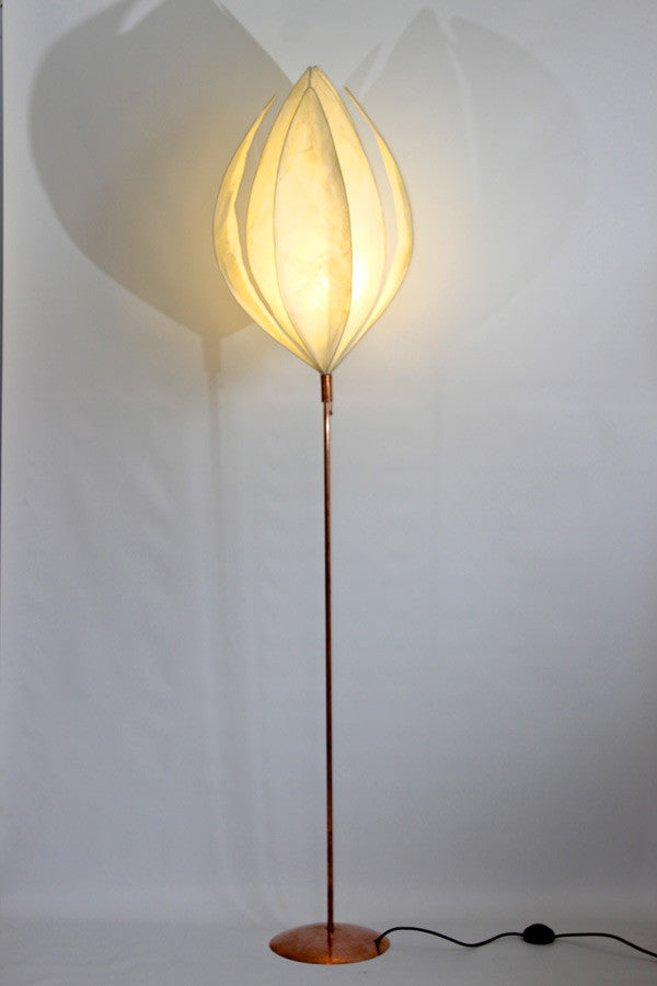 Tall Straight-Stem Anemone Floor Lamp