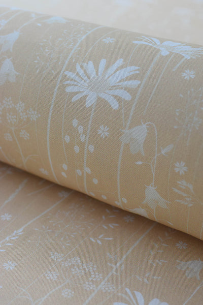 Daisy Meadow Fabric in Golden Yellow