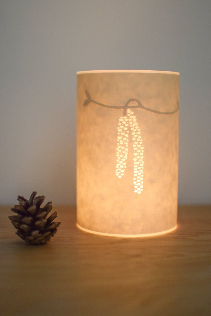 Hazel Catkins Candle Cover