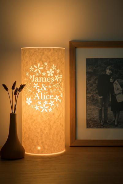 Bouquet Personalised Lamp