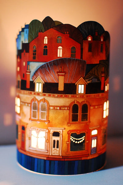 Bunting lantern by local Hebden Bridge artist Kate Lycett from Radiance