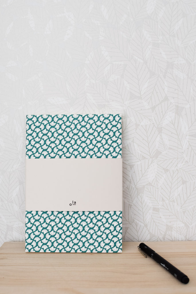 A5 'Curve' Layflat Notebook in Forest Green