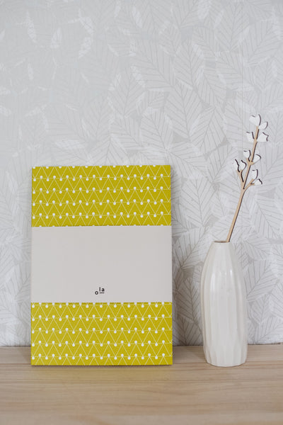 A5 'Dash' Layflat Notebook in Leaf Green