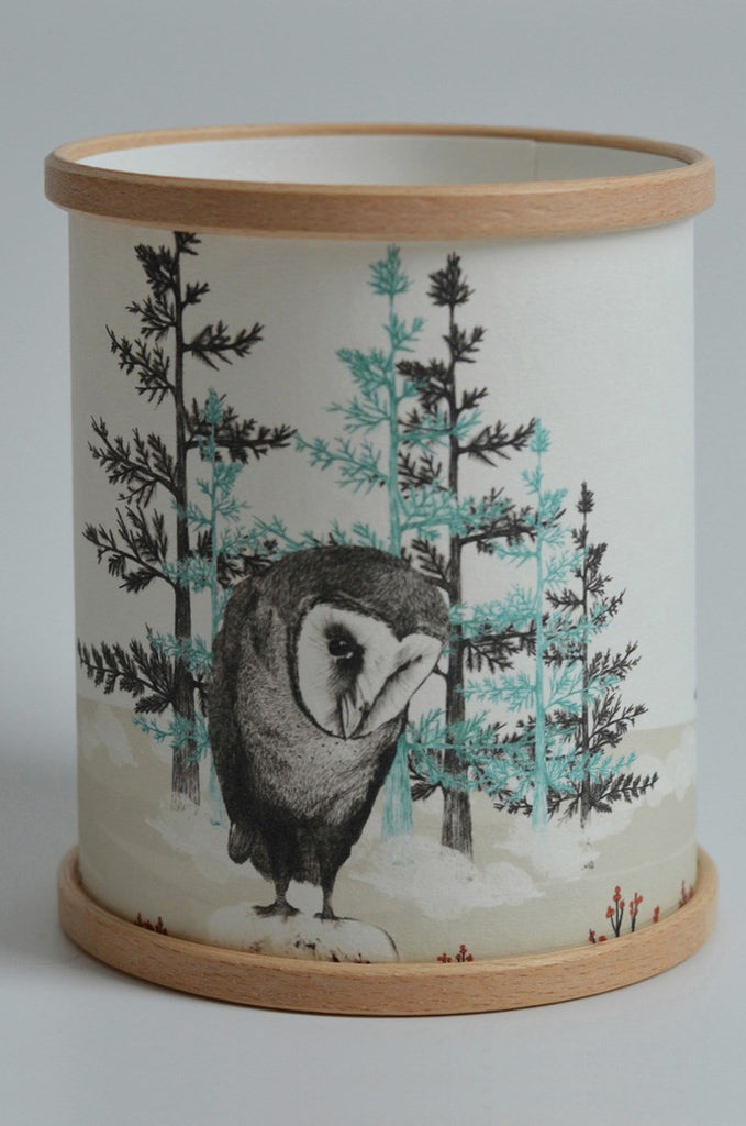 Barn Owl Candle Cover