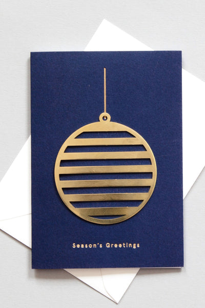 Bauble - Solid Brass Ornament Card