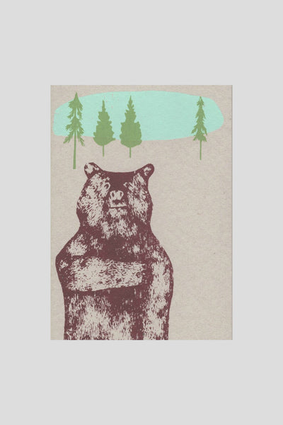 Brave Bear Hand-Stitched Notebook