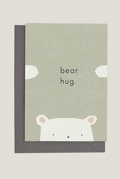Bear Hug - Greetings Card