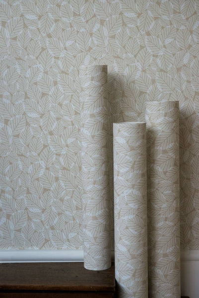 Beech Leaves Wallpaper in Kraft