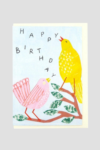 Birthday Birds - Greetings Card