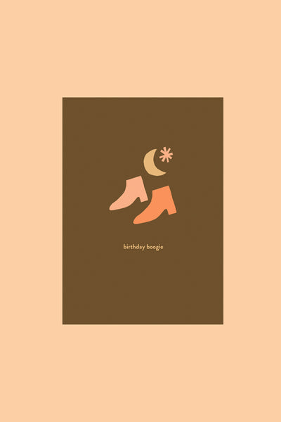 Birthday Boogie - Greetings Card