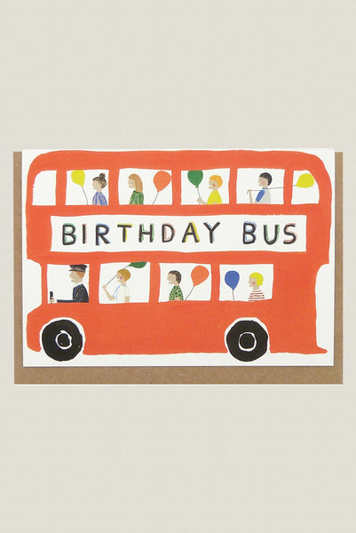Birthday Bus - Greetings Card