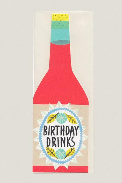 Birthday Drinks - Greetings Card