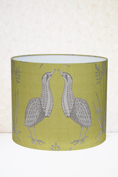 Lime Green Bittern Fabric Shade