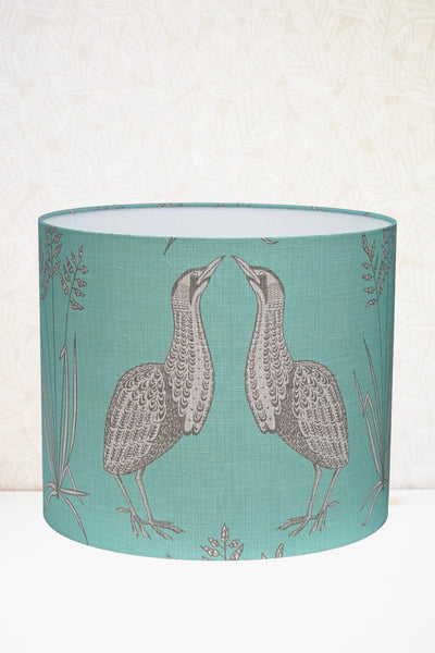 Teal Bittern Fabric Shade