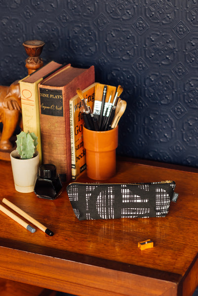 Piper Black Pencil Case