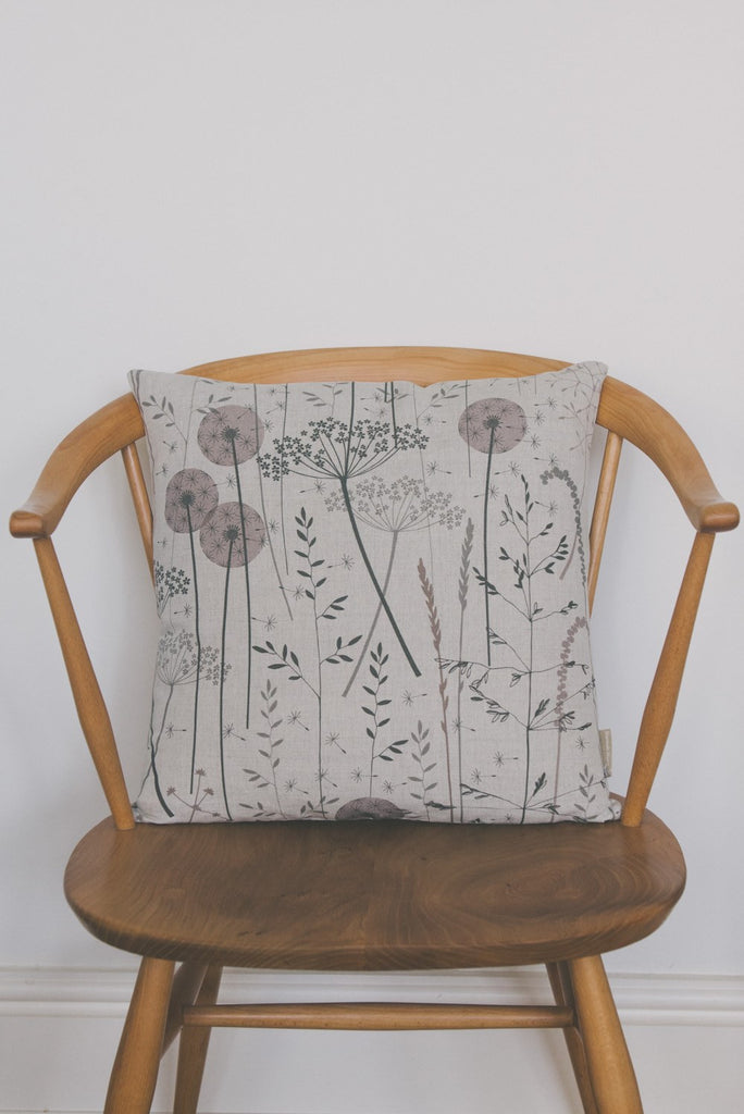Paper Meadow Cushion in Blush