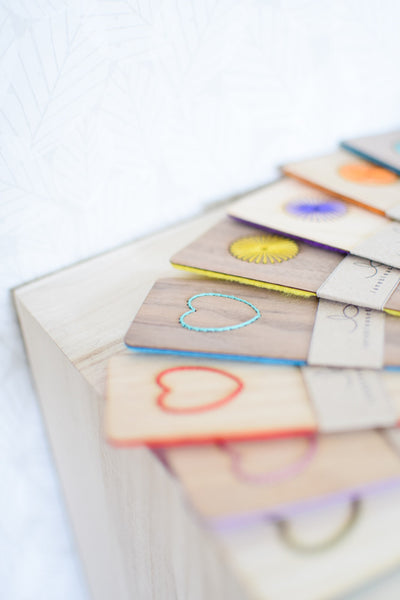 Embroidered Wood & Felt Bookmarks
