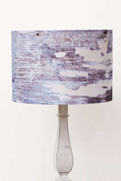 Breezy Blue Linen Lampshade