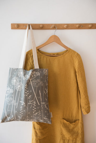 Paper Meadow Tote Bag in Charcoal