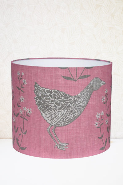 Rose Pink Corncrake Fabric Shade
