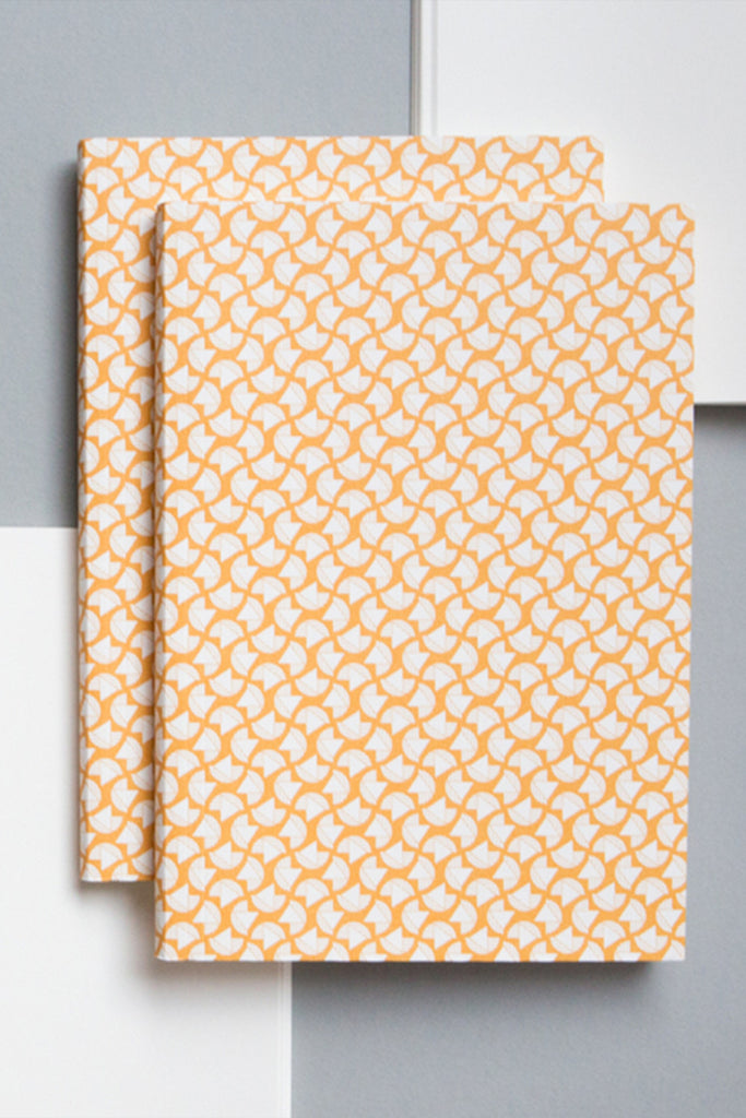 A5 'Curve' Layflat Notebook in Cadmium Yellow