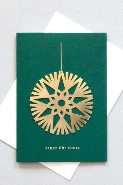 Decoration - Solid Brass Ornament Card