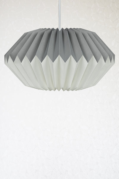 Dove Grey Origami Paper Lampshade