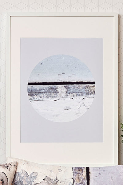 A3 Coastal Eclipse Inspired Wall Art Print