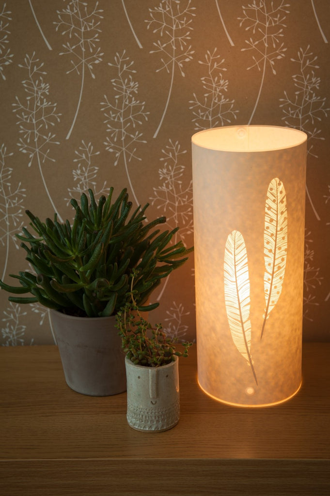 Feather Table Lamp
