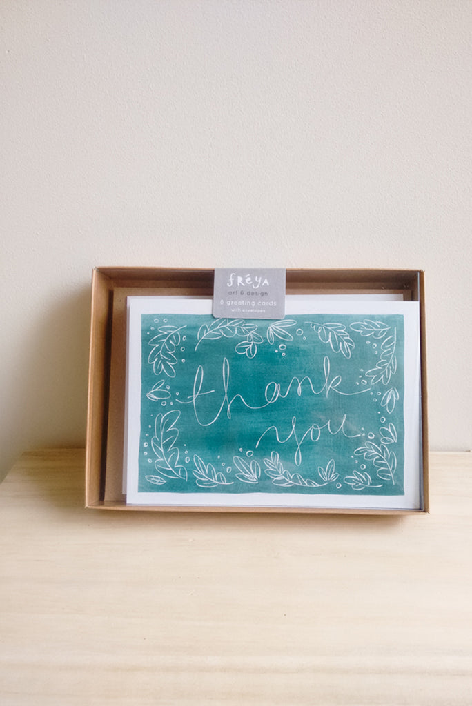 Watercolour Thank You Note Card Set