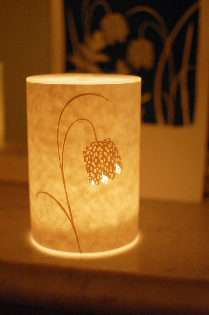 Fritillary Candle Cover