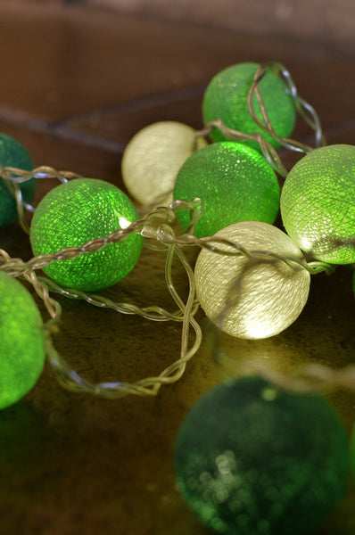 Green Tones Ambient Ball Fairy Lights