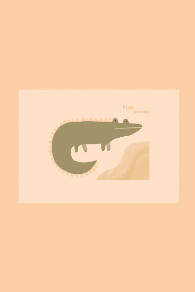 Happy Birthday Crocodile - Greetings Card