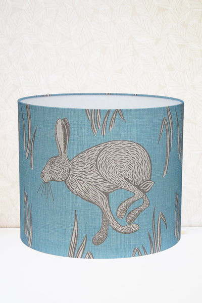 Blue Hare Fabric Lampshade