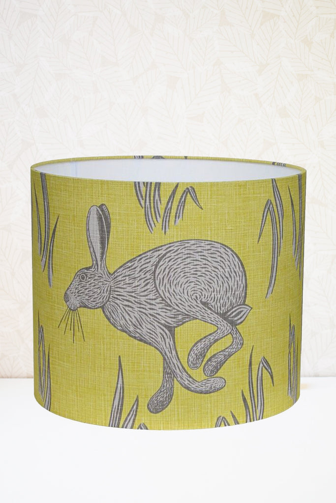 Yellow Hare Fabric Shade