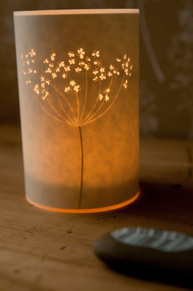 Cow Parsley Candle Cover