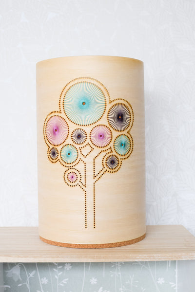 Hand embroidered ash tree lamp (small)