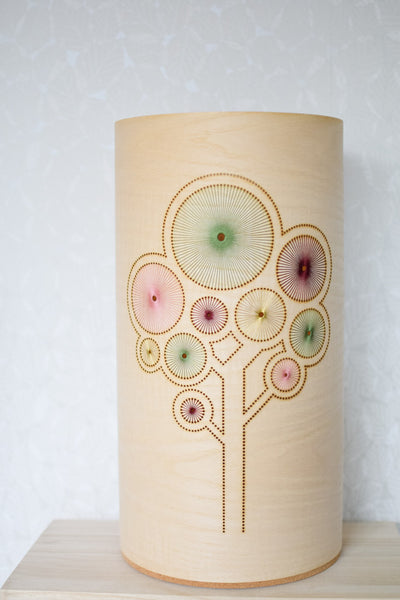 Hand embroidered ash tree lamp (large)
